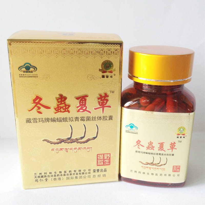 Zangxuema Cordyceps capsules 500gx80each/bottle Enhanced imm